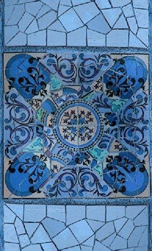 """Disagu Design Case Coque pour Apple iPhone 5 Housse etui coque pochette """"Blaues Mosaik"""""""
