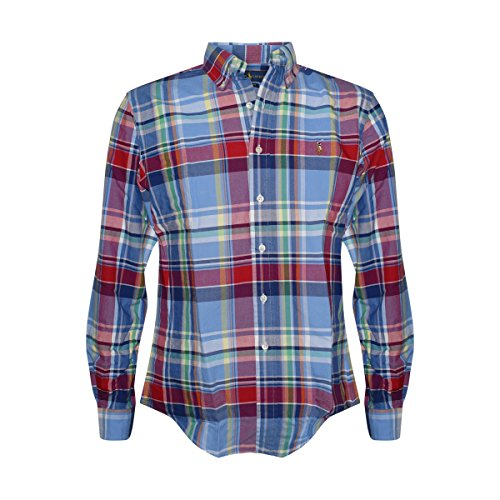 ab8966f8 Galleon - Polo Ralph Lauren Men's Long Sleeve Button Down Shirt (Large, Red /Blue)