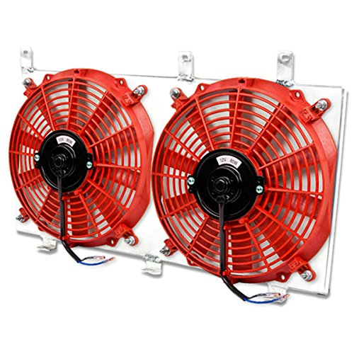 - For Mazda RX-7 MT Aluminum Bolt-on Cooling Radiator Fan Shroud (Red) - 3rd Gen FD FD3S