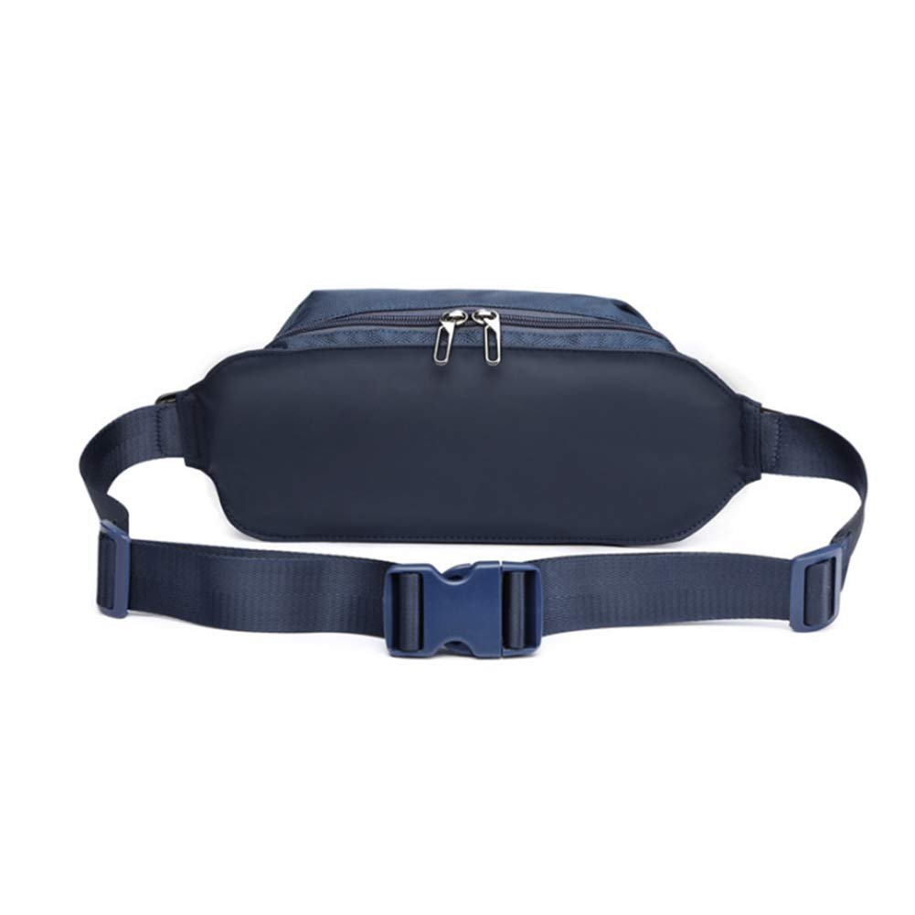 DDLONY Oxford Waist Bag Waterproof Running Bag Cashiers Box Blue Mobile Phone Organizer for Man Woman Cycling and Climbing Travel Camping