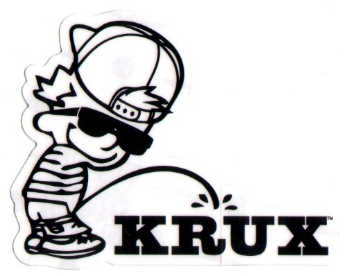 Krux Skate Trucks - Krux Trucks Skateboard Sticker - Hater - skate board skating black skateboarding