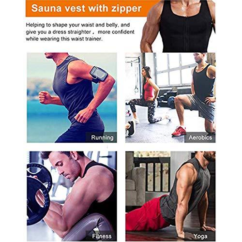 Sudation Homme Blouse Pour Du Musculation Noir 2 shirt De in Poids Zip Amincissant Minceur Manches Sport Vertvie Top Sauna Shaper Compression T 1 Perdre Gilet Courtes 0Pxqqd