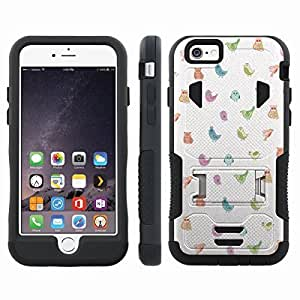 [ArmorXtreme] Hybrid Rugged Armor Design Image Protect Case With Kickstand (Birds) for Iphone 6 Plus (5.5) hjbrhga1544