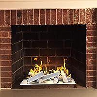 Regal Flame 8 Piece Set Ceramic Wood Med...