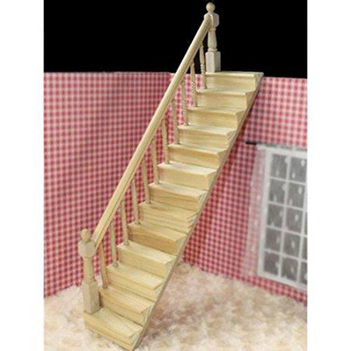 Pixnor - Scala di legno in miniatura per casa delle bambole ...