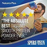 Natures Plus Spirutein Shake – Cookies & Cream Flavor – 1.15 lbs, Spirulina Protein Powder - Plant-Based Meal Replacement, Vitamins, Minerals for Energy - Vegetarian, Gluten Free - 15 Servings