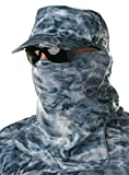 Aqua Design Adjustable Size Multipurpose Face Sports Water Camo Sun Protection Mask Breathing Holes Shield Pro+ Tube, Misty Sky