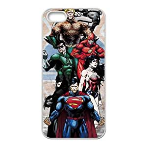 iPhone 5 5s Cell Phone Case White Justice League Heros Eihth
