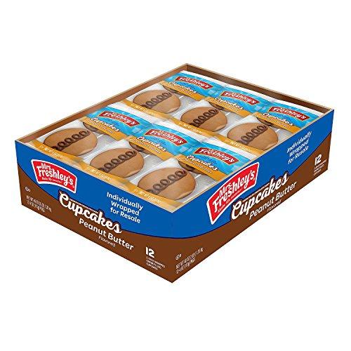 Mrs.. Freshley's Peanut Butter Flavored Cupcakes (2 per pk., 12 pks.)