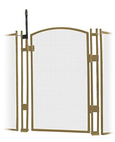 EZ-Guard 4' Tall Self Closing/Self Latching Pool Fence Gate -Tan