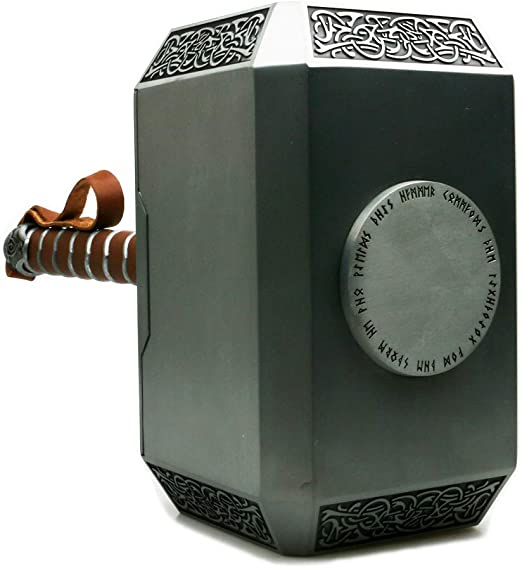Gmasking 2020 Norse Mythology Thor Mjolnir Cosplay Martillo 1:1 Real Props: Amazon.es: Hogar
