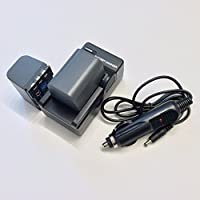 Two EXTENDED Battery + Home&Wall Charger + Car Plug for Canon BP-2L12, BP-2L13, BP-2L14, BP-2L24H with carrying case gift by IPAX