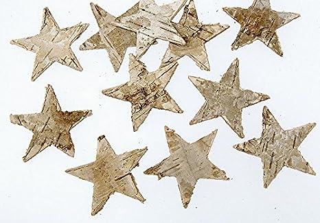 Weihnachtsdeko Aus Birke.100 Stk Birkensterne Natur Sterne Birkenrinde Weihnachtsdeko Herbstdeko Rinde Holz Birke Deko Dekosterne Rindensterne Holzsterne