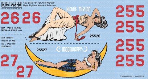 1/32 WW.II 米陸軍航空軍 P-61A-1 =ブラック・ウィドウ= 第6夜間戦闘飛行隊の商品画像
