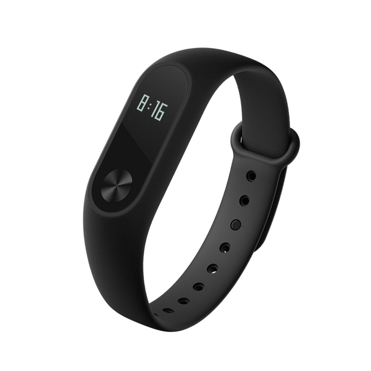Xiaomi Mi Band 2 Activity Tracker, Cardiofrequenzimetro da Polso Braccialetto Fitness Tracker Bluetooth 4.0 Pedometro Monitoraggio del Sonno Impermeabile IP67 per Android e IOS, nero MGW4024GL