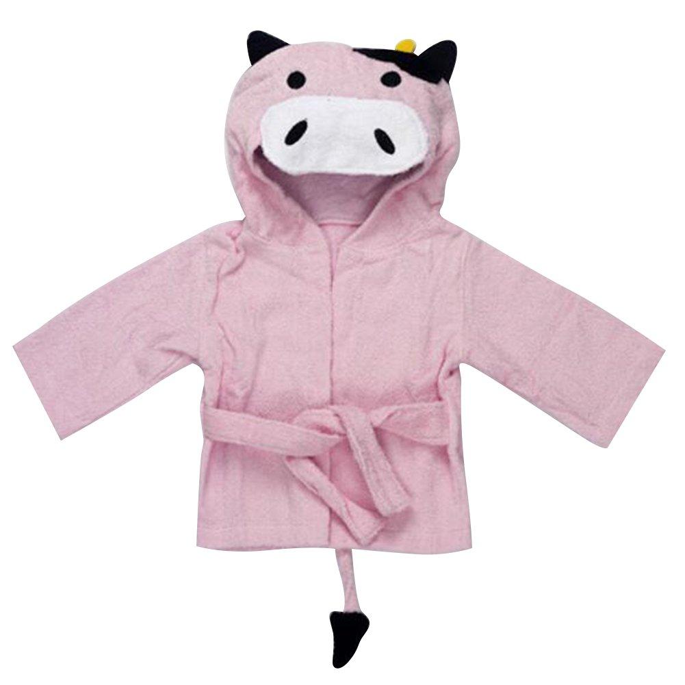 Baby Cartoon Animal con cappuccio camicia da notte flanella pigiama da ragazzi Homewear pigiama per bambini morbido accappatoio Yying Network Technology Ltd