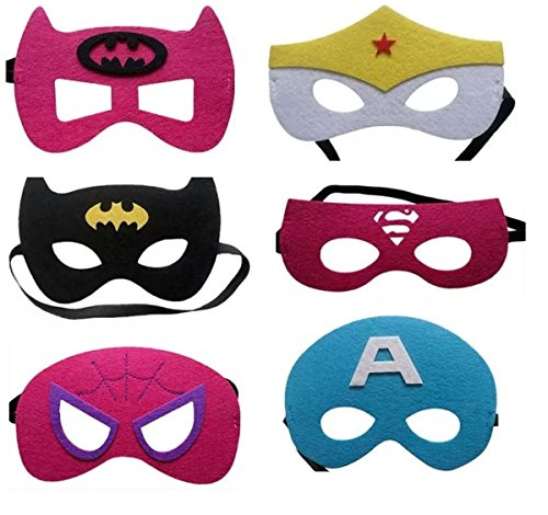 12 Pieces Superheroes Party Character Felt
