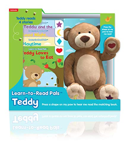 Kidsbooks Learn-to-Read Pals Plush Electronic Story Reader and 4-Book Library, Teddy (Bear) (Cute Names To Name A Teddy Bear)