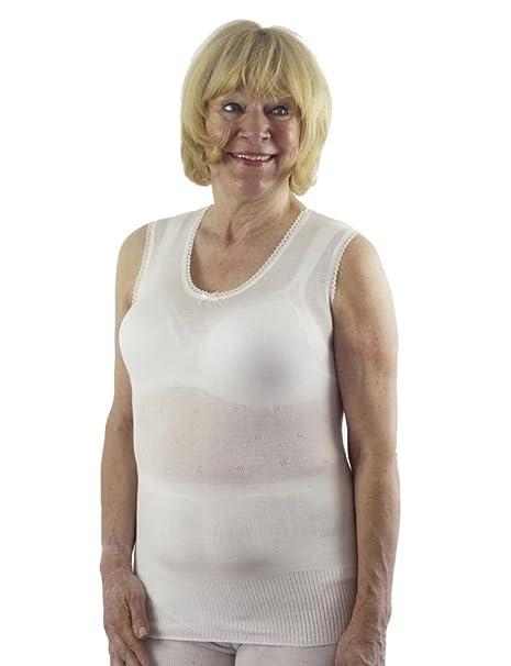 Para mujer Classic térmica ropa interior, Spencer chaleco sin mangas, British fabricado por Lux
