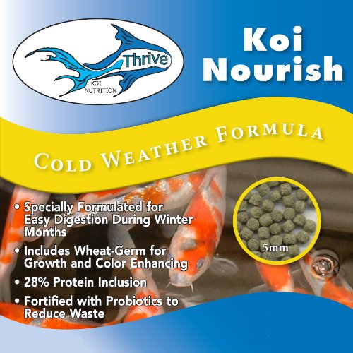 Thrive Koi Nourish Cool Water Diet Fish Food 50 Lbs. Bag by Thrive