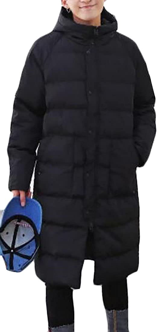 ZXFHZS Mens Hooded Winter Thickened Light Weight Long Down Jacket