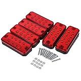 6Pcs 12V 8 LED Truck Trailer Side Marker Lights Indicator Lamps (Color : Red)