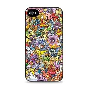 636 Pokemon Collage Apple iPhone 5C Hardshell Case - Black by ruishername