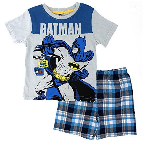 [Batman Little Boys' 2pc T-Shirt and Short Set, Grey, 7] (Boys Batman Outfit)