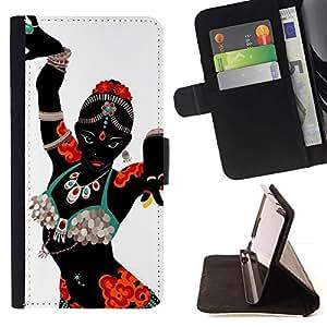Momo Phone Case / Flip Funda de Cuero Case Cover - Danza india Mujer Traje Vestimenta Arte - Apple Iphone 6