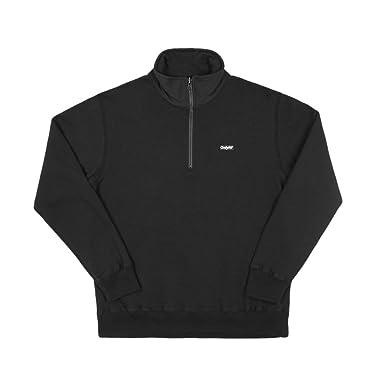 amazon only ny logo quarter zip pullover black オンリー