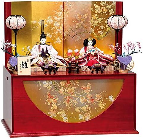 雛人形 平安豊久 ひな人形 雛 コンパクト収納飾り 親王飾り みはる 刺繍 小三五親王揃 h313-mo-304943
