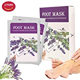 Exfoliating Foot Peeling Mask 2 Pairs Lavender Scented Peel Booties for Callus Dead Skin, Get Soft Touch Smooth Feet in 1 Week
