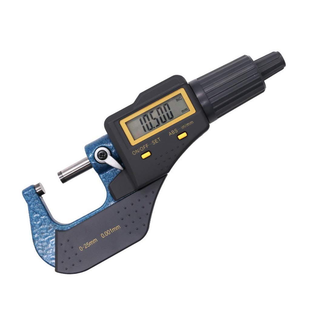 OmkuwlQ 0.001mm Electronic Outside Micrometer 0-25mm LCD Screen Digital Micrometer Electronic Digital Caliper Gauge