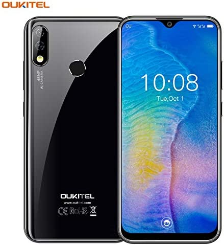 """OUKITEL Y4800 Smartphone Offers, 6.3 """" FHD + 4G mobile phone, Android 9.0 6GB + 128GB, 4000 Battery Helio P70 AI 48MP + 5MP, Dual SIM Face and Fingerprint Unlock"""
