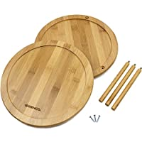 Premium Bamboo 2 Tier Lazy Susan - easy to put together