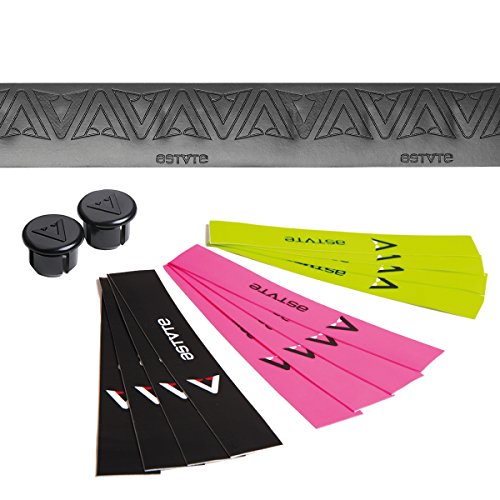 astvte (Astute) Bar Tape ekusutori-mute-pu Dark Lace [Extreme Tapes Dark Race] Black/Yellow/Pink Color Finish Tape with Rubber, Made in Italy 0ndrbkyelpin199 by Astute