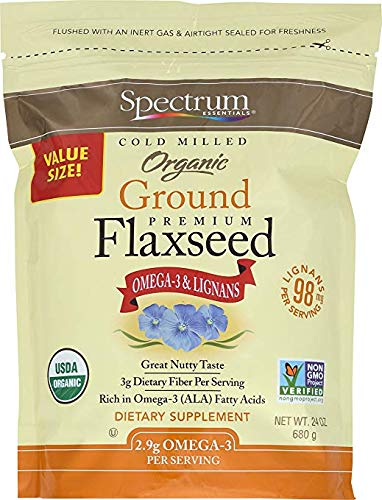 Spectrum Essentials Organic Ground Flaxseed, 24 oz (2 pack) - Organic Essential Ground