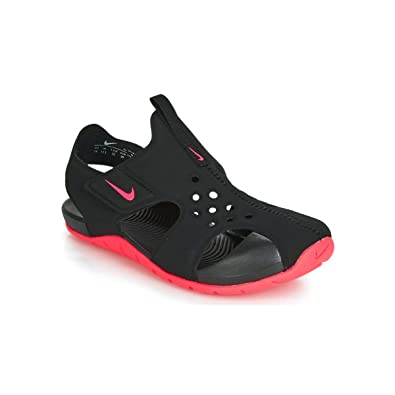 cbf2fb2841d478 Nike Boy s Sunray Protect 2 (PS) Pre School Sandal Black Racer Pink Size