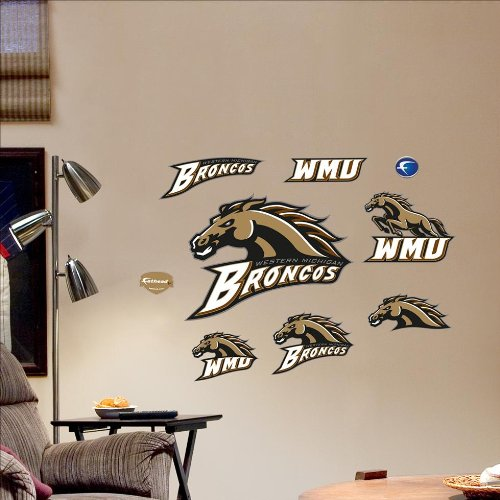 Western Michigan Broncos Wall (NCAA Western Michigan Broncos Team Logo Assortment Wall)