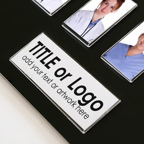 Student or Employee Photo Display Board in Clear Clear Black or White 35 Image Staff