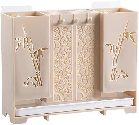 Wpjpzwj777 Caja de Almacenamiento de Cocina, Caja de Palillos, Porta Cuchillos para el hogar, Caja de Almacenamiento de Palillos de vajilla, Varios Cubiertos de Almacenamiento, función de Drenaje: Amazon.es: Hogar