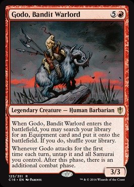 Magic: the Gathering - Godo, Bandit Warlord (125/351) - Commander 2016
