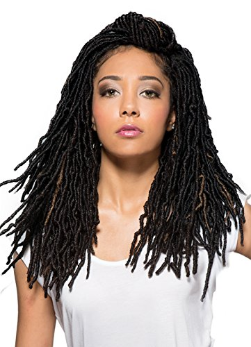 "Price comparison product image Bobbi Boss 100% Premium Fiber Hair Nu Locs 18"" - BNULC-18 (Color 1B)"