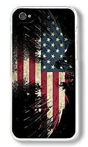 American Bald Eagle Custom iPhone 4S Case Back Cover, Snap-on Shell Case Polycarbonate PC Plastic Hard Case Transparent
