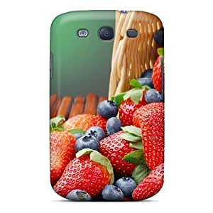 Excellent Design Food Strawberries And Blueberries Case Cover For Galaxy S3