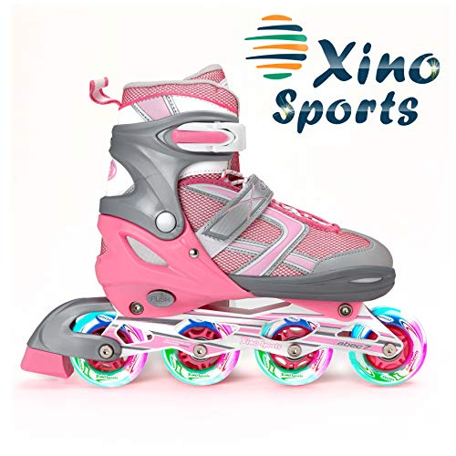 XinoSports Adjustable Children's Inline Skates for Girls &...