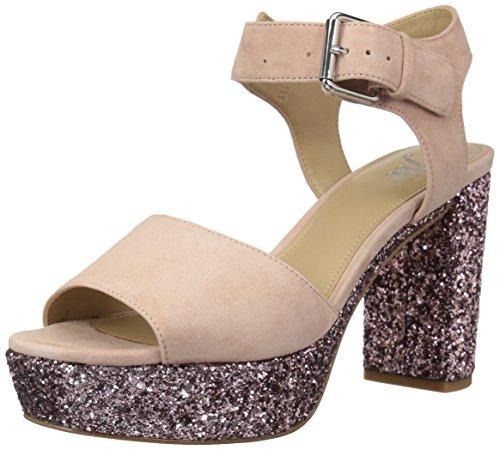 The Fix Womens Farah Single Buckle Platform Dress Sandal  Petal Blush  6 5 B Us