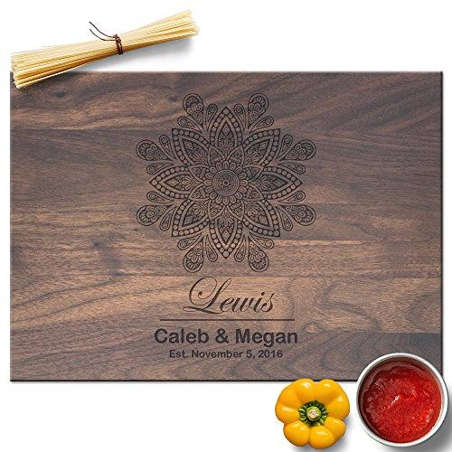 Froolu Fine Mandala Art Designer cutting boards for Couple Monogram Anniversary (Couple Monogram)