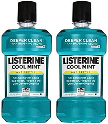 Listerine Antiseptic Mouthwash for Bad Breath, Plaque and Gingivitis, 1 l