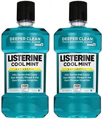 Listerine Antiseptic Mouthwash, Cool Mint - 33.8 oz - 2 pk